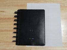 Used Tul Wireless Charging Discbound Leather Notebook Junior Size Black
