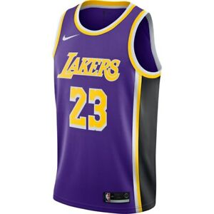 974e1c075 2018-2019 Nike Los Angeles Lakers LeBron James Statement Edition ...