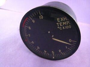 WWII-Warbird-Aircraft-Exh-Temp-Gauge-Indicator-Lewis-Eng-Co