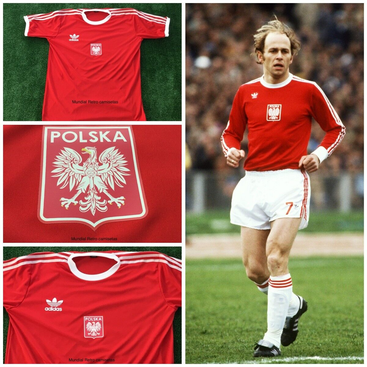 Polska World Cup 1978 retro jersey maglia camiseta (replica)