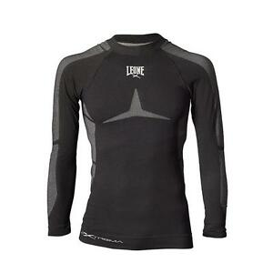 Leone-ABX27-Long-Shirt-Rashguard-Seamless-Nera-o-Verde-per-Boxe-Thai-Kick