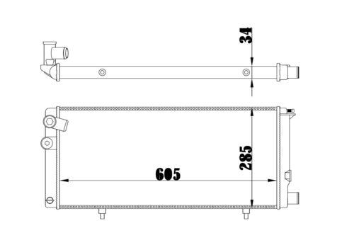 1.9 Diesel Kühler 20A//C Motorkühlung PEUGEOT 205 II