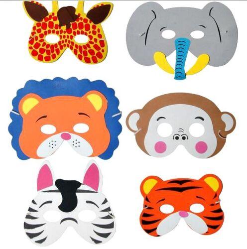 5pc enfants mousse jungle animal masques eva sac fête jouet filler fancy dress kid