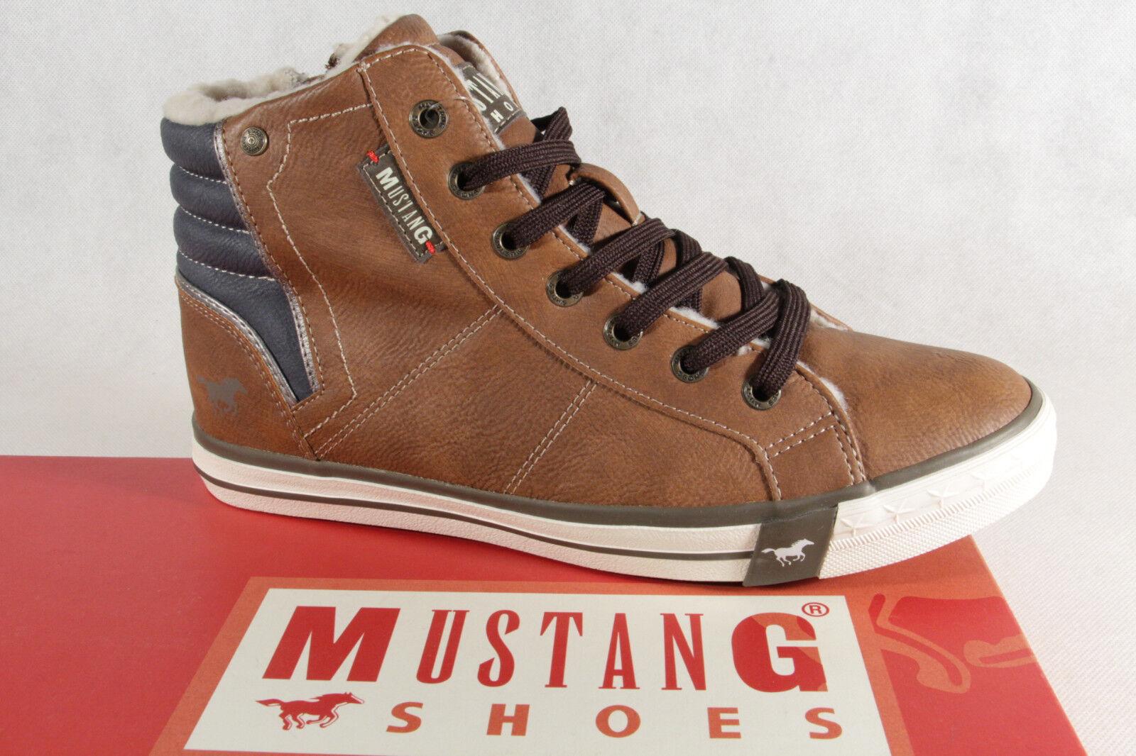 Mustang Stiefel Stiefeletten Stiefelette Schnürstiefel Stiefel braun  NEU