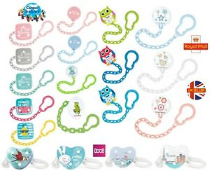 Multicoloured Soother Clip Chain YU Baby Dummy Clip Pacifier Strap Holder