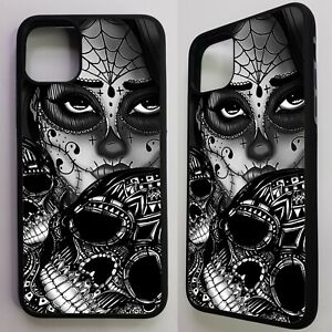 Day-of-the-dead-sugar-skull-girl-tattoo-graphic-art-case-cover-for-iphone-11