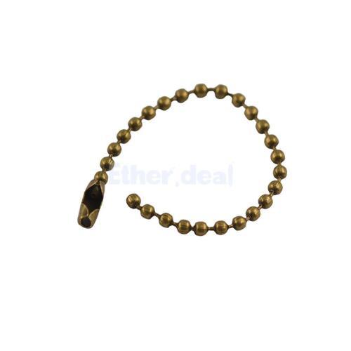 20x 10cm Dog Tag Dogtag Halskette Kugelkette 2.4mm für Anhänger Vintage
