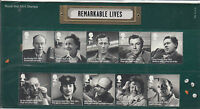 GB 2014 MNH Remarkable Lives 10v Set Presentation Pack 496 Alec Guinness