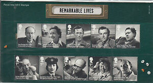 GB-2014-MNH-Remarkable-Lives-10v-Set-Presentation-Pack-496-Alec-Guinness