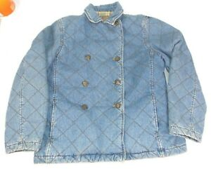 Ralph-Lauren-Quilted-Denim-Blue-Jean-Jacket-Outdoor-Plaid-Lined-Equestrian-M