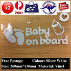 2X New Cool Baby on Board Vinyl Car Sticker Decal Sign Window Safe 26X13cm