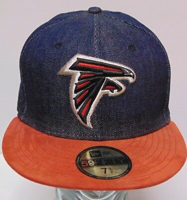 size 40 best sale cute SIZE 7 1/2 New Era NFL ATLANTA FALCONS Snapback Hat Cap Denim Hat ...