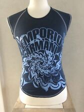 Emporio Armani Swimwear Mens Sexy Stretch Fitted Sleeveless Shirt Tank Large