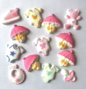 13-x-Edible-Baby-Shower-Cupcake-Toppers-Decorations-Party-Cakes-Teddy-Bib-Dummy