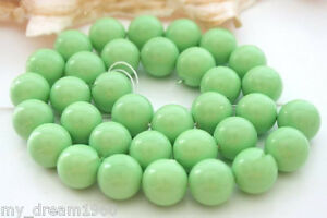 Genuine-12mm-Green-South-Sea-Shell-Pearl-Round-Gemstone-Loose-Beads-15