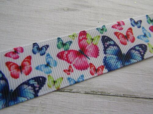 "OWLS  GROSGRAIN RIBBON  BOWS CRAFTS CAKES 1/""  25 MM CHOICES BUTTERFLY"