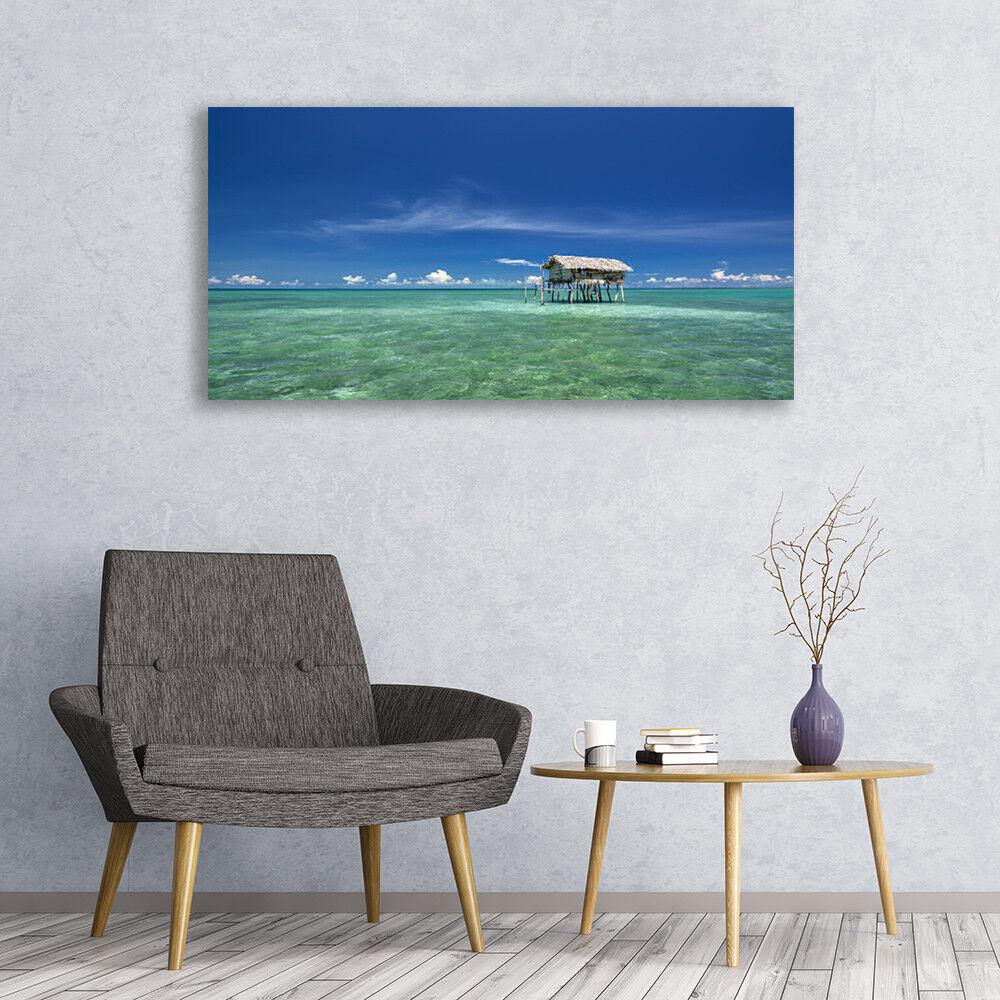 Murales cuadros de cristal presión sobre vidrio marino 120x60 paisaje marino vidrio db460e