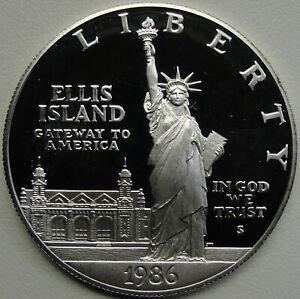 1986 San Francisco Mint Commemorative 90/% Silver Statue Of Liberty Proof set