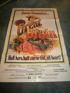 THE GREAT BRAIN(1978)JIMMY OSMOND ORIGINAL ONE SHEET POSTER+