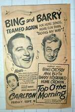 1949 Bing Crosby Barry Fitzgerald Top Of The Morning Carlton Theatre Haymarket