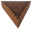 COFFRET-BOIS-LOUPE-ET-MARQUETERIE-TRIANGULAIRE-DEBUT-XXeme-18-5-cm-de-cote-H-5cm miniature 1