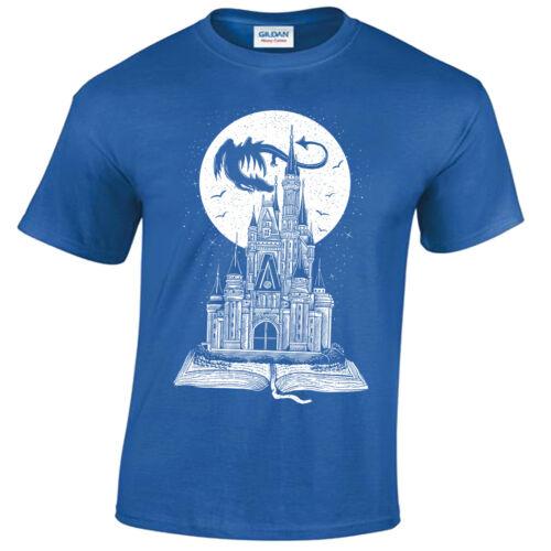 Kinder Fee Schwanz BUCH T-Shirt Story Drachen Castle Fantasy Mond Sterne Kinder