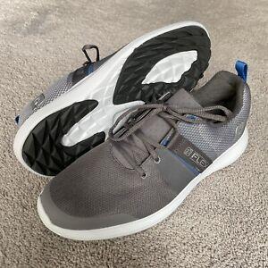 NEW FootJoy FLEX Golf Shoes Spikeless Mens 9.5 Gray/Blue (no box)