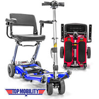 Luggie Elite Folding Travel Senior Top Mobility Lithium Powered Scooter Cart