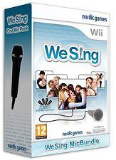 Nintendo Karaoke Wii Spiel We Sing Vol. 1 + Stück Mikro Mikrofon Neu