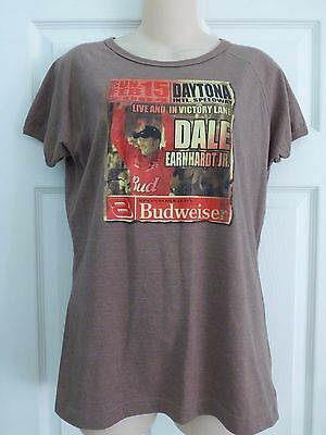 Chase Authentics For Women Nascar Dale Earnhardt Jr. 2004 Daytona T-Shirt  Sz L