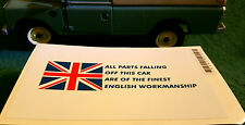 TVR Tuscan Chimaera British Parts Workmanship Comedy Humour Sticker Decal