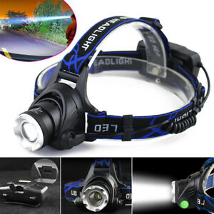 Tactical-30000LM-Rechargeable-T6-LED-Headlamp-18650-Headlight-Head-Lamp-Torch-UK