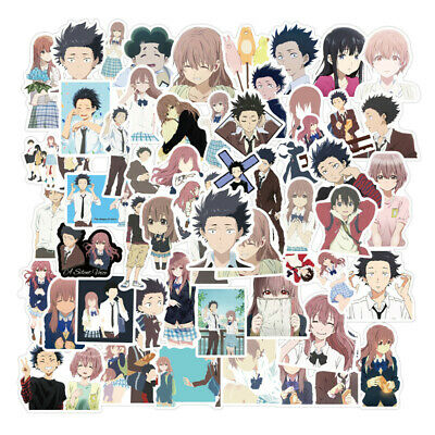 50pcs A Silent Voice Stickers Ishida Shouya Nishimiya Shouko Laptop Vinyl Decals Ebay