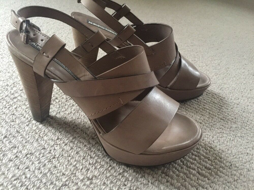 Alberto Fermani, Brown Leather Heeled 36 Sandals, Size 36 Heeled 41fc06