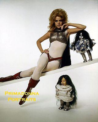 BARBARELLA JANE FONDA Sexy Pin Up Silver Boots Black