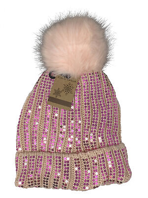 BeautyFaves Thick Fleece All Around Rhinestone Studded Fashion Winter Beanie