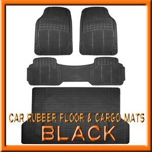 Fits 3pc Toyota Rav4 Black Rubber Floor Mats Amp 1pc Cargo