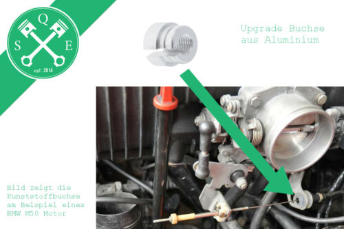 Upgrade Gaszug Buchse Aluminium passend für BMW E30 E34 E36 M20 M30 M50 M52 M60