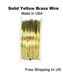BRASS ROUND WIRE 20 GA 115 FT. 5 OZ Solid BARE YELLOW BRASS (HALF HARD)