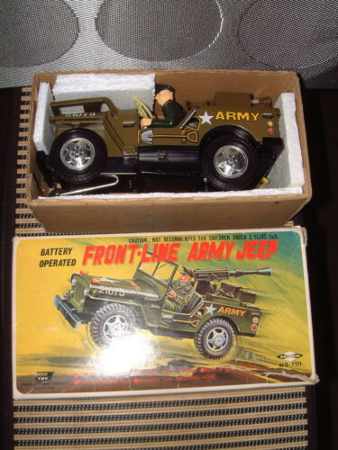BATTERY OPERATED 100% FULLY FUNCTIONAL W/BOX!! DAISHIN FRONT-LINE ARMY JEEP Alle Artikel in Elektrisches Spielzeug