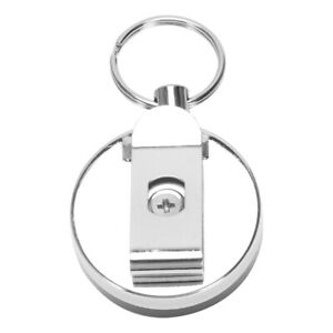 10X-Retractable-metal-key-ring-card-badge-holder-steel-recoil-ring-belt-cli-Q6I3
