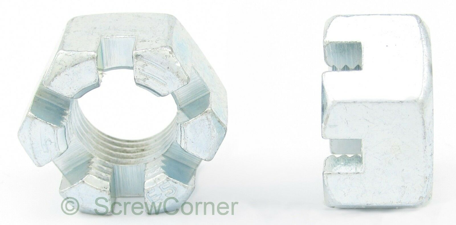 Kronenmutter 3 4-16 UNF Grade 5 verzinkt - Slotted Nut 3 4-16 UNF Grd.5 Zp