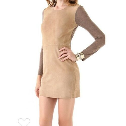 Rebecca Taylor SUEDE KNIT DRESS SZ 4  SOLD OUT $54