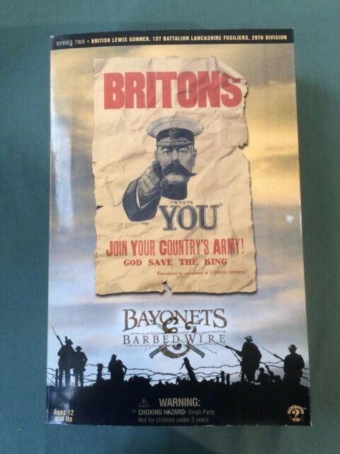 """Sideshow Collectibles 1/6 Scale 12"""" Bayonets & Barbed Wire British Lewis Gunner"""
