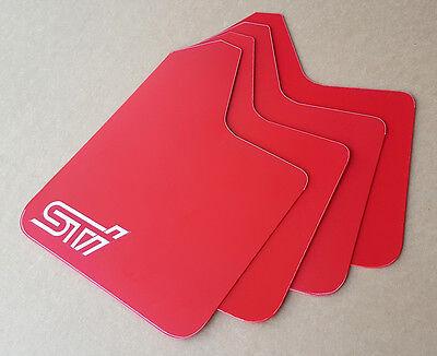 STARTER Mud Flaps Set RED with Custom Vinyl Logo C SR
