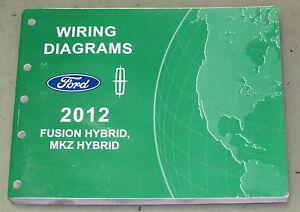 2012    Ford       Fusion    Hybrid    Lincoln       MKZ    Hybrid Service Wiring    Diagram    Manual   eBay