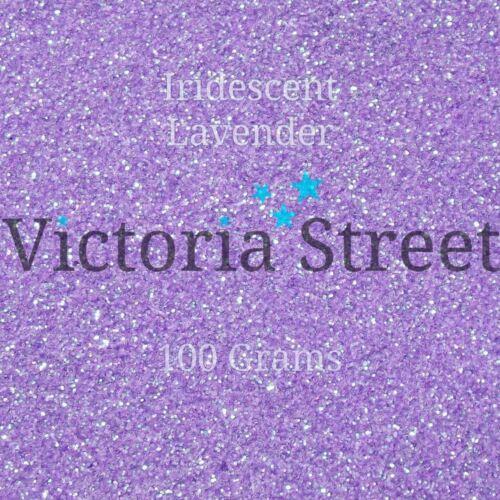 "Victoria Street Glitter-Lavanda Iridiscente-Fino 0.008/""//0.2 mm Lila Violeta"