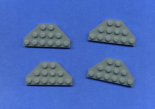 Lego--2419 Platte Grau//DkStone Flügel Star Wars 3 x 6 4 Stück
