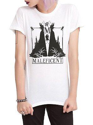 Disney Sleeping Beauty Maleficent Silhouette Girls T-Shirt M, L, XL - NWT