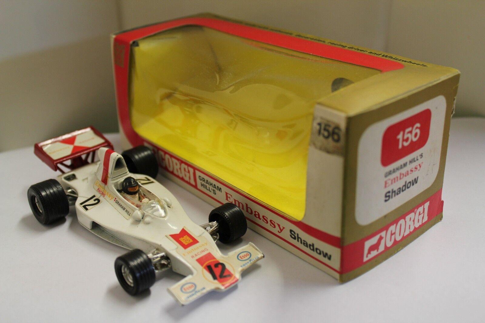 Corgi No  156  Embassy Shadow F 1 Racing Car  (Graham Hill) (Original 1973)